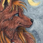 ACEO-Anthro-Wolf